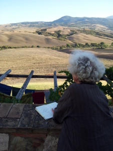 disegnando val d'Orcia